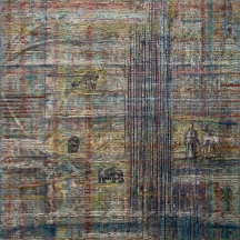 DUKHA WEFT mixed media panel 3'x3'