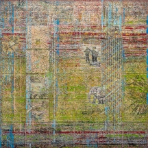 LOOKIN OUT mixed media panel 3'x3'